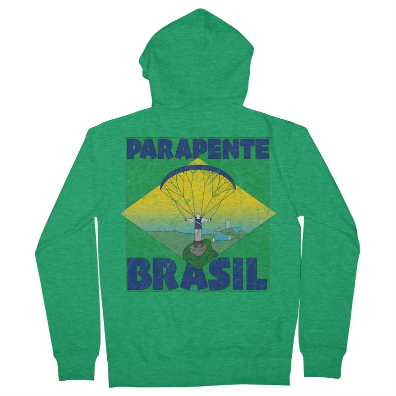 Parapente Brasil - Paraglide Brazil - Grunge Women's French Terry Zip-Up Hoody by The Wandering Fools