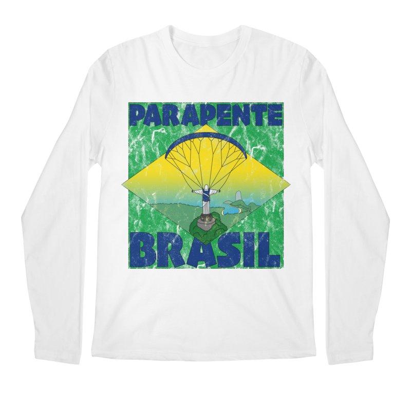 Parapente Brasil - Paraglide Brazil - Grunge Men's Regular Longsleeve T-Shirt by The Wandering Fools