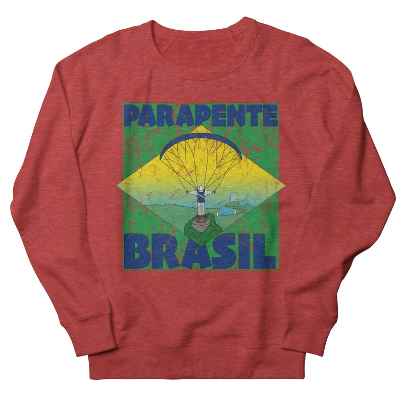 Parapente Brasil - Paraglide Brazil - Grunge Men's French Terry Sweatshirt by The Wandering Fools