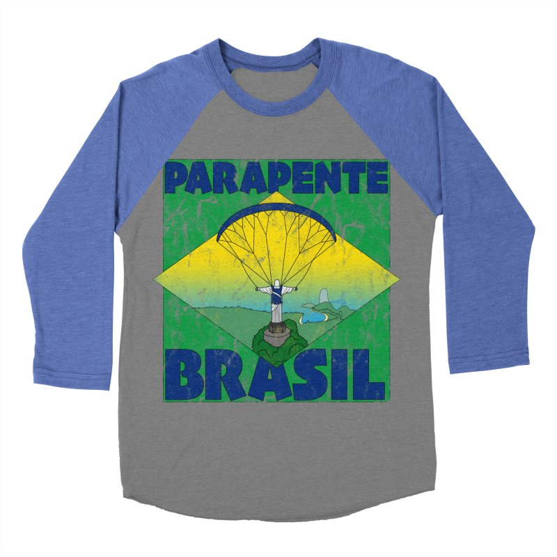 Parapente Brasil - Paraglide Brazil - Grunge Women's Baseball Triblend Longsleeve T-Shirt by The Wandering Fools