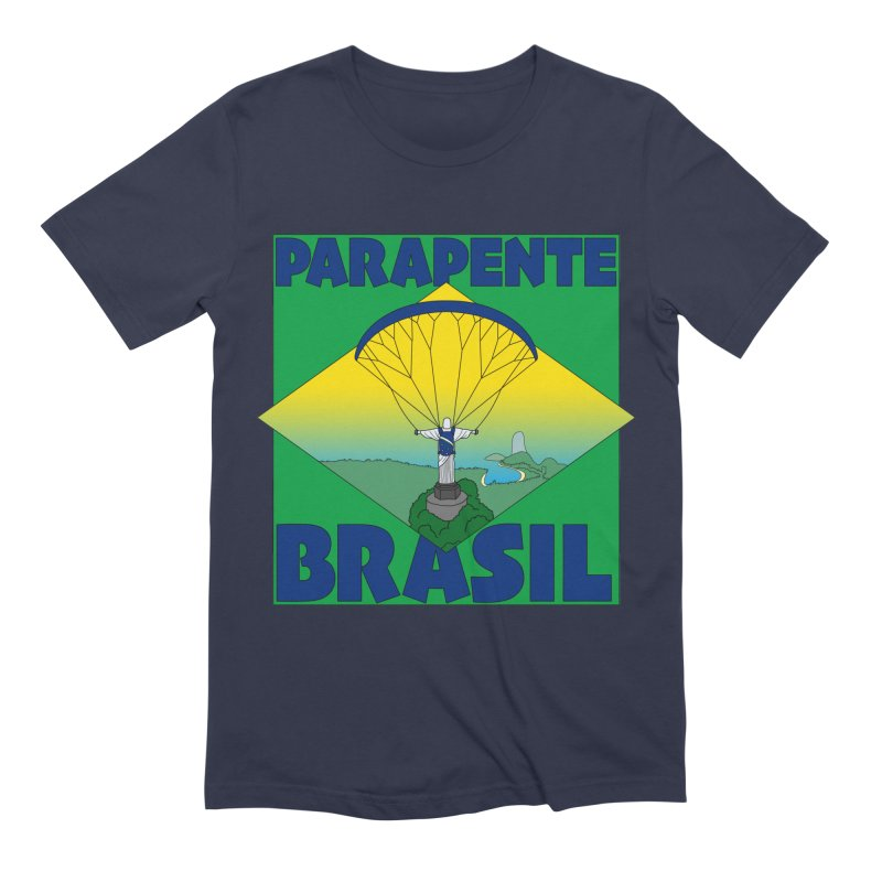 Parapente Brasil - Paraglide Brazil Men's Extra Soft T-Shirt by The Wandering Fools