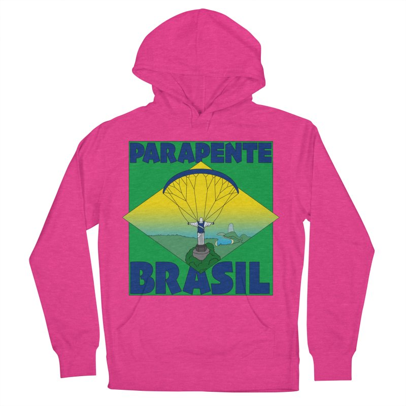 Parapente Brasil - Paraglide Brazil Women's French Terry Pullover Hoody by The Wandering Fools