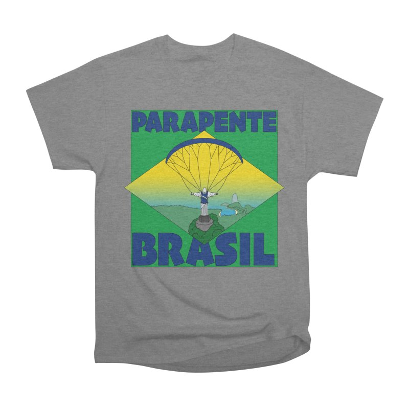 Parapente Brasil - Paraglide Brazil Men's Heavyweight T-Shirt by The Wandering Fools