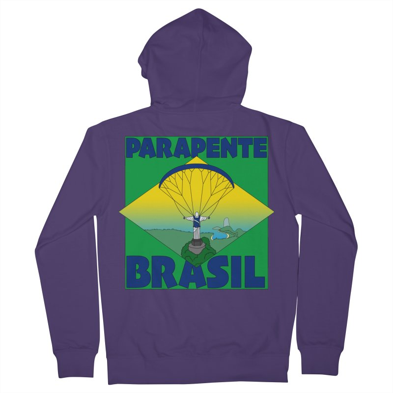 Parapente Brasil - Paraglide Brazil Women's French Terry Zip-Up Hoody by The Wandering Fools