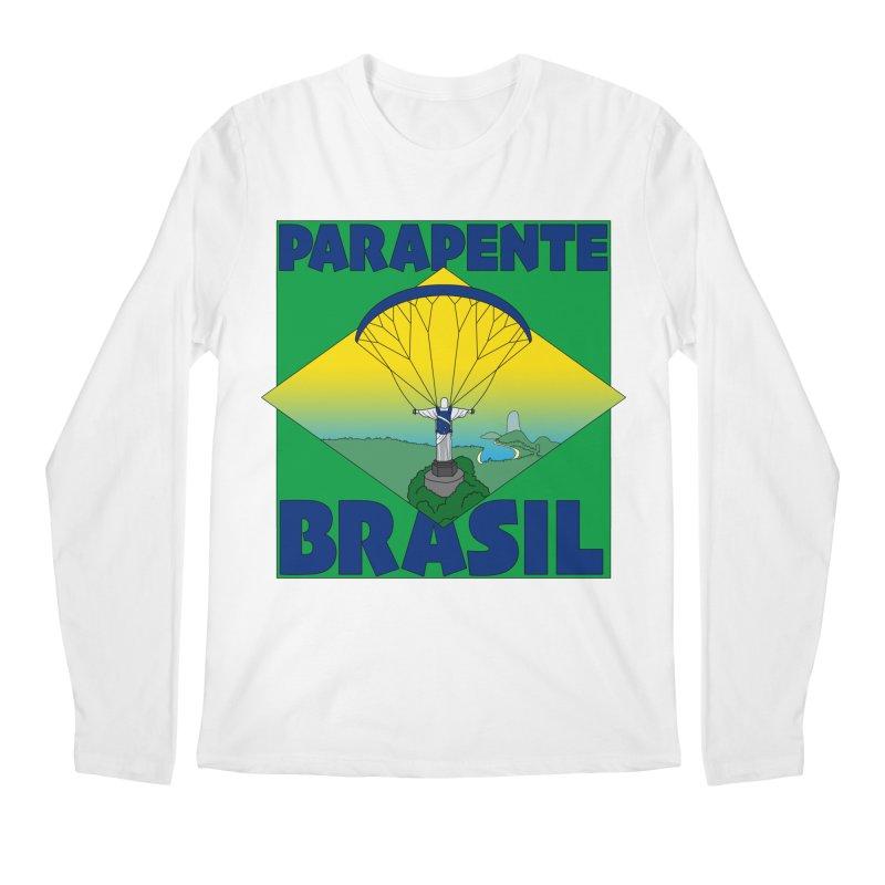 Parapente Brasil - Paraglide Brazil Men's Regular Longsleeve T-Shirt by The Wandering Fools