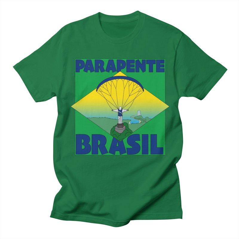 Parapente Brasil - Paraglide Brazil Men's Regular T-Shirt by The Wandering Fools