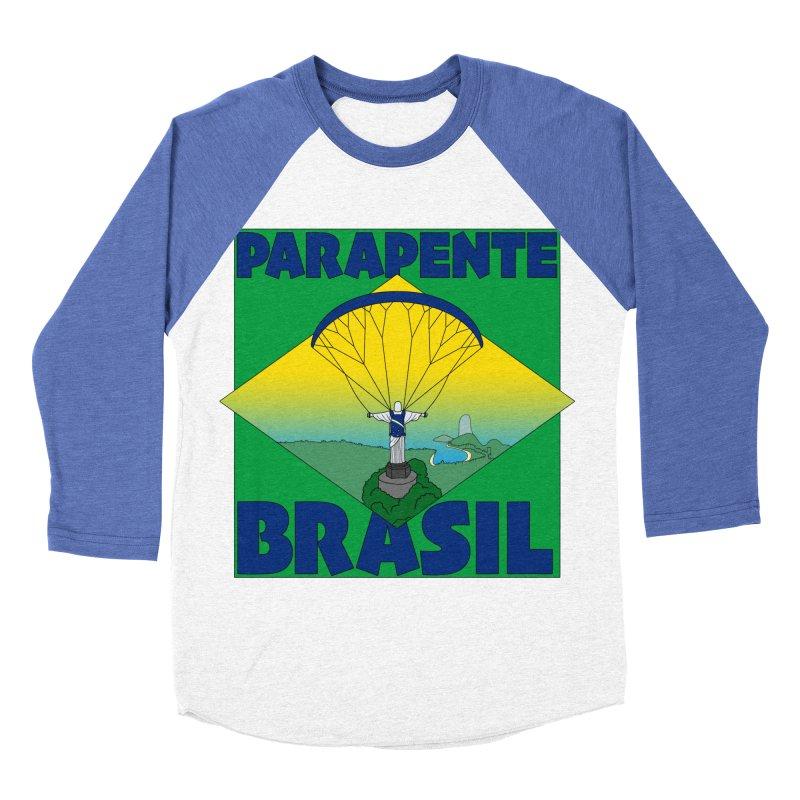 Parapente Brasil - Paraglide Brazil Women's Baseball Triblend Longsleeve T-Shirt by The Wandering Fools