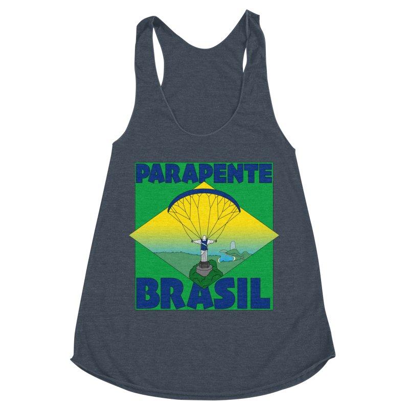 Parapente Brasil - Paraglide Brazil Women's Racerback Triblend Tank by The Wandering Fools
