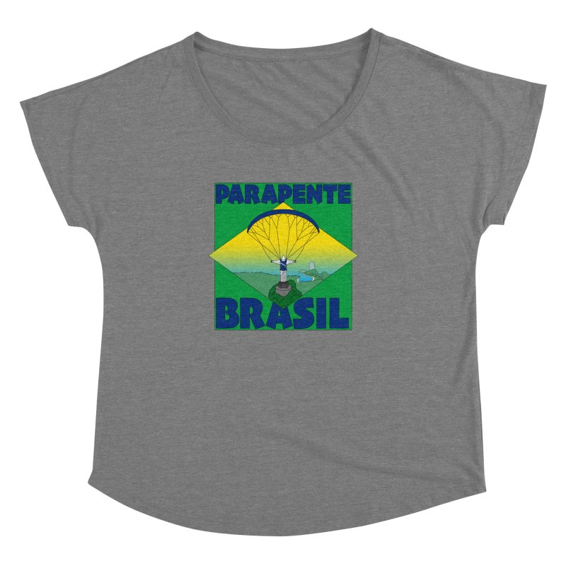 Parapente Brasil - Paraglide Brazil Women's Dolman Scoop Neck by The Wandering Fools