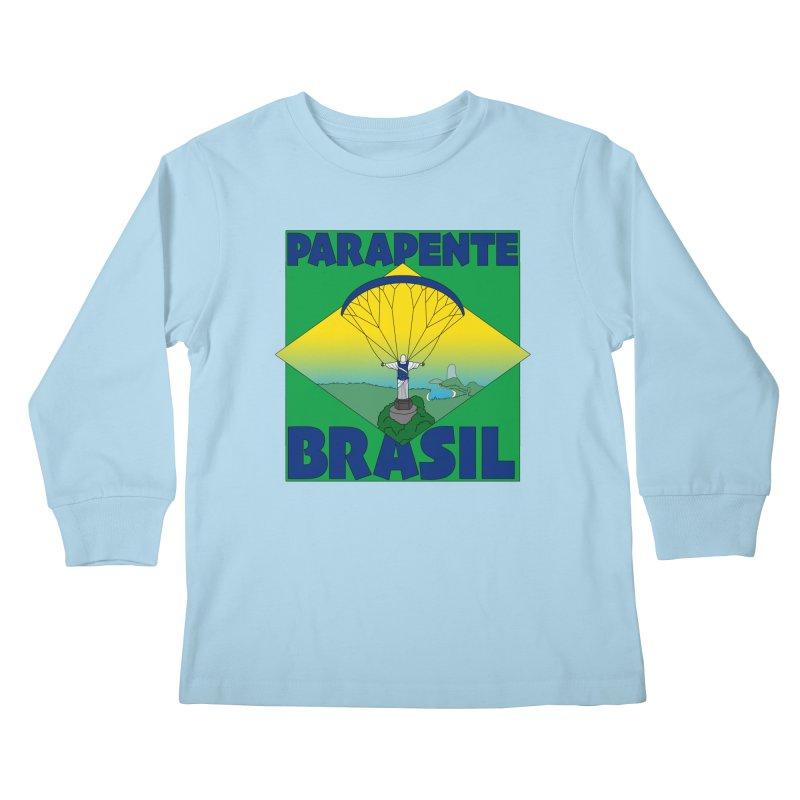 Parapente Brasil - Paraglide Brazil Kids Longsleeve T-Shirt by The Wandering Fools
