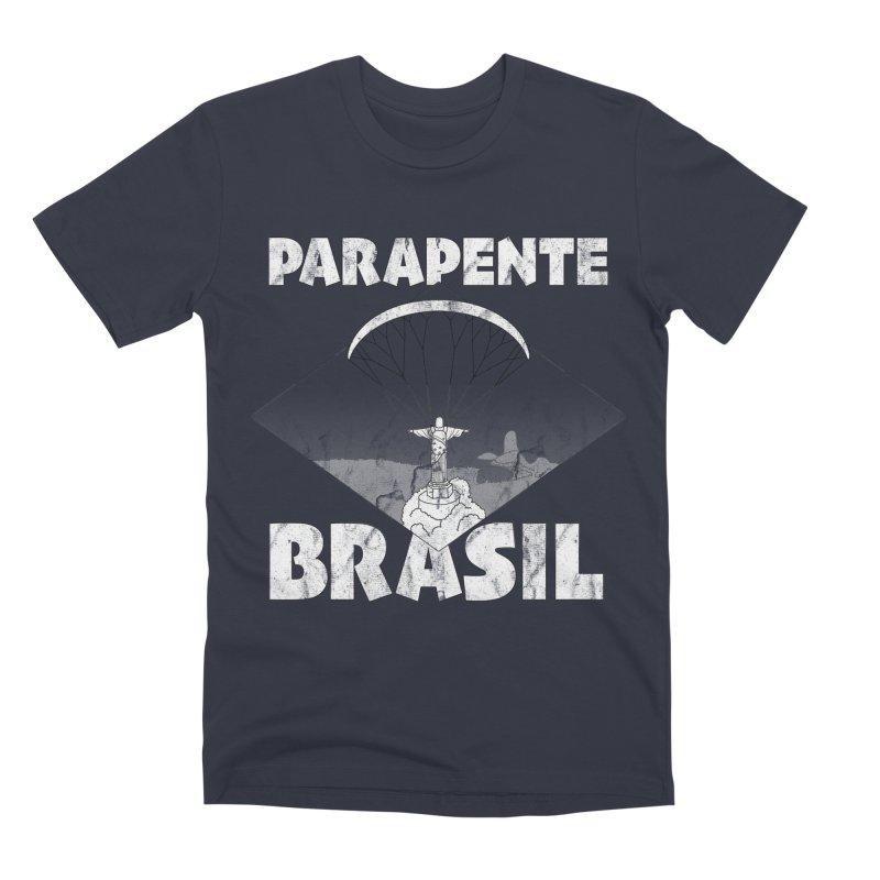 Parapente Brasil - Paraglide Brazil - Grunge Men's Premium T-Shirt by The Wandering Fools