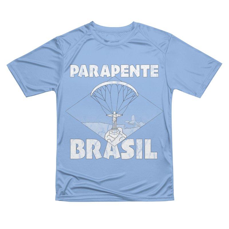 Parapente Brasil - Paraglide Brazil - Grunge Men's T-Shirt by The Wandering Fools Artist Shop