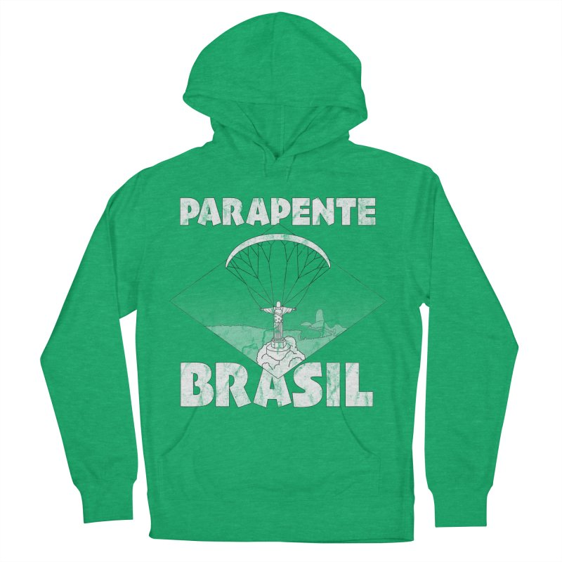 Parapente Brasil - Paraglide Brazil - Grunge Men's French Terry Pullover Hoody by The Wandering Fools