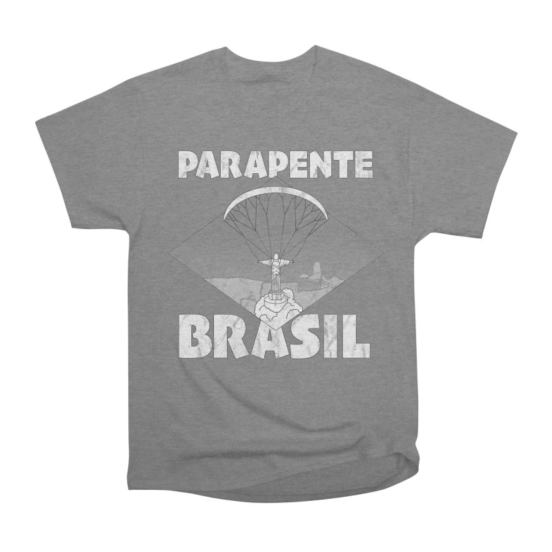 Parapente Brasil - Paraglide Brazil - Grunge Men's Heavyweight T-Shirt by The Wandering Fools