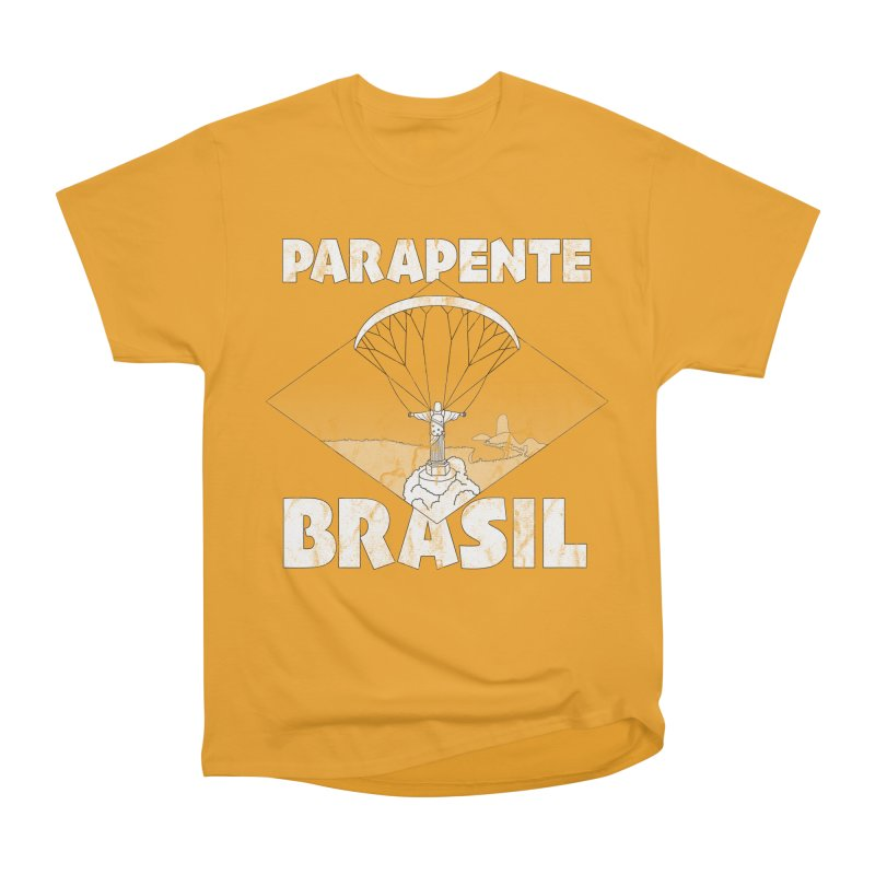 Parapente Brasil - Paraglide Brazil - Grunge Women's Heavyweight Unisex T-Shirt by The Wandering Fools