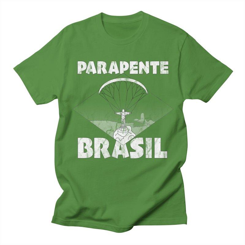 Parapente Brasil - Paraglide Brazil - Grunge Men's Regular T-Shirt by The Wandering Fools
