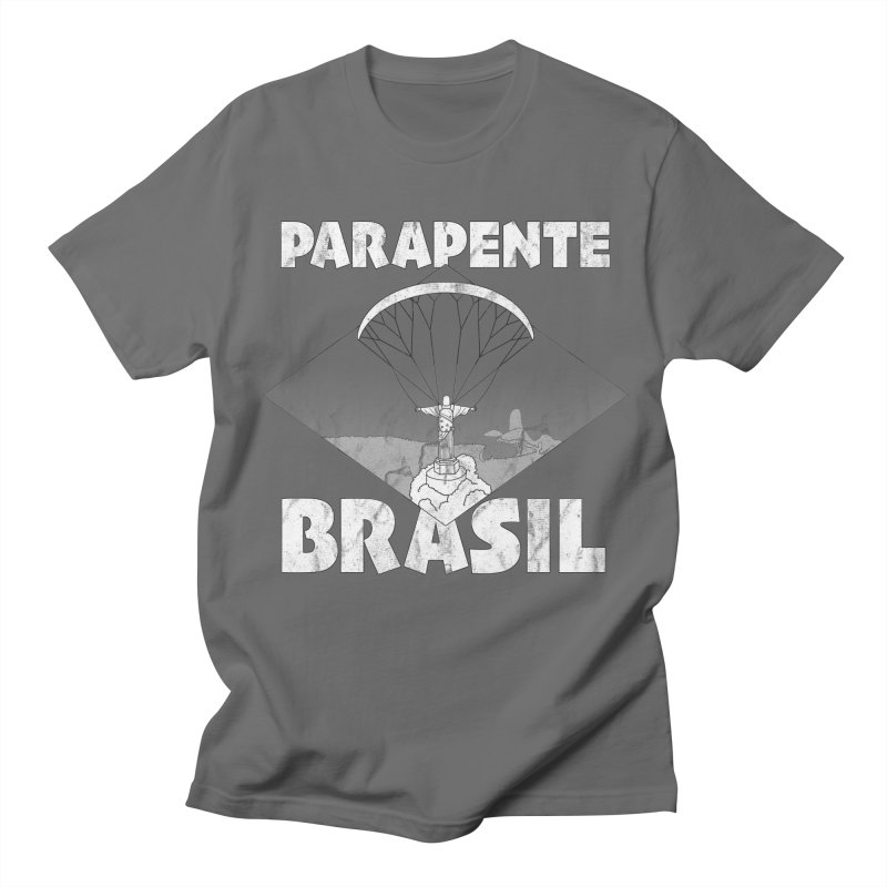Parapente Brasil - Paraglide Brazil - Grunge Women's Regular Unisex T-Shirt by The Wandering Fools