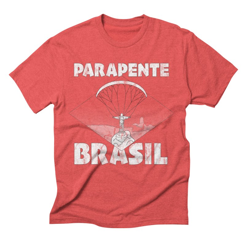 Parapente Brasil - Paraglide Brazil - Grunge Men's Triblend T-Shirt by The Wandering Fools