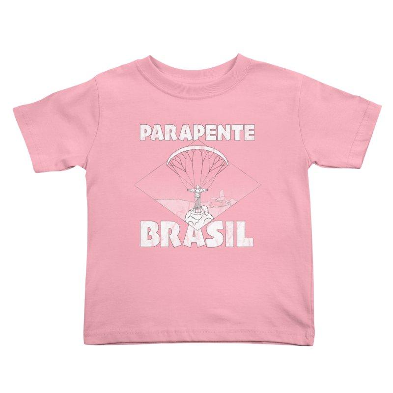 Parapente Brasil - Paraglide Brazil - Grunge Kids Toddler T-Shirt by The Wandering Fools