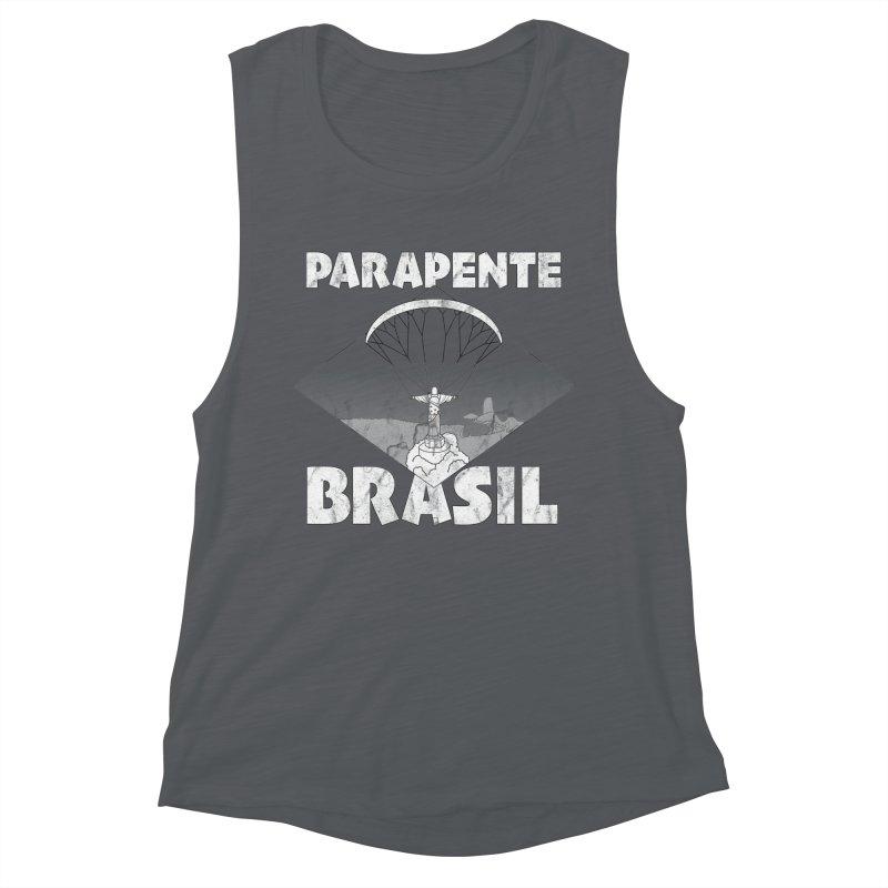 Parapente Brasil - Paraglide Brazil - Grunge Women's Muscle Tank by The Wandering Fools