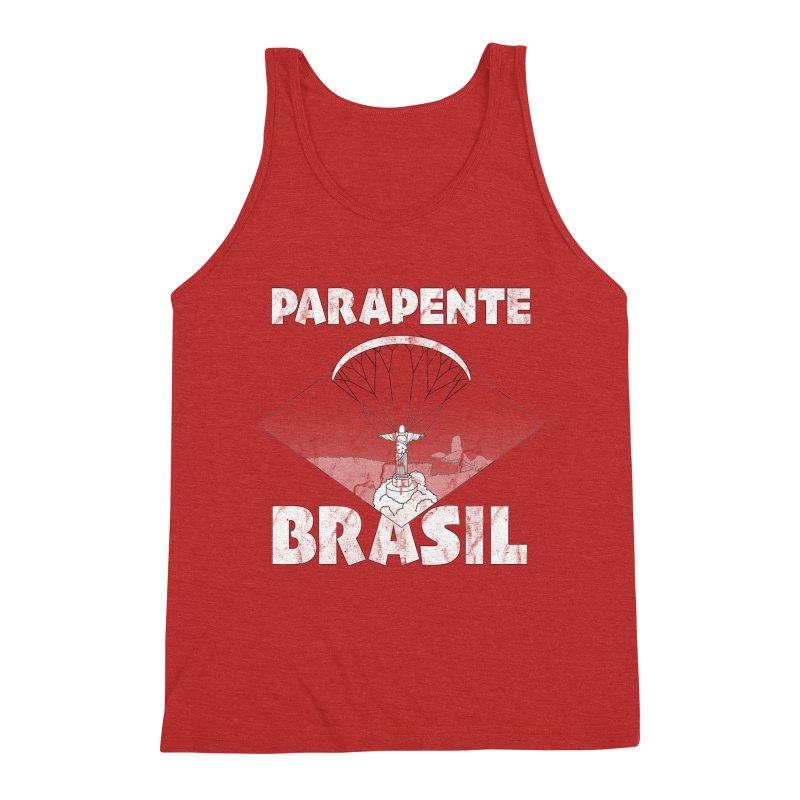 Parapente Brasil - Paraglide Brazil - Grunge Men's Triblend Tank by The Wandering Fools