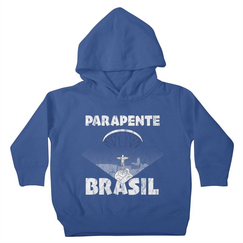 Parapente Brasil - Paraglide Brazil - Grunge Kids Toddler Pullover Hoody by The Wandering Fools