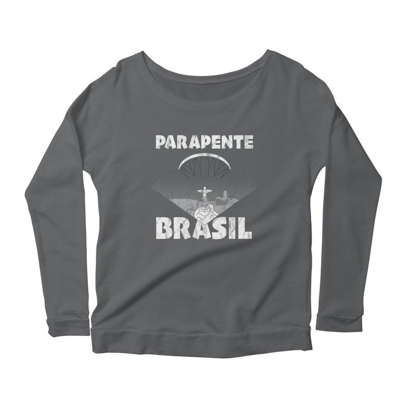 Parapente Brasil - Paraglide Brazil - Grunge Women's Scoop Neck Longsleeve T-Shirt by The Wandering Fools