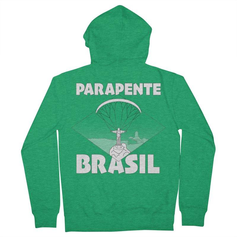 Parapente Brasil - Paraglide Brazil Men's Zip-Up Hoody by The Wandering Fools Artist Shop
