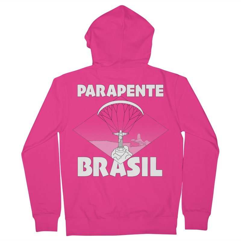 Parapente Brasil - Paraglide Brazil Men's French Terry Zip-Up Hoody by The Wandering Fools