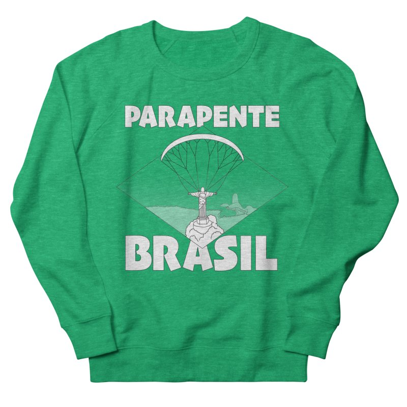 Parapente Brasil - Paraglide Brazil Men's French Terry Sweatshirt by The Wandering Fools