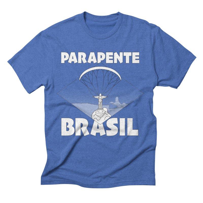 Parapente Brasil - Paraglide Brazil Men's Triblend T-Shirt by The Wandering Fools