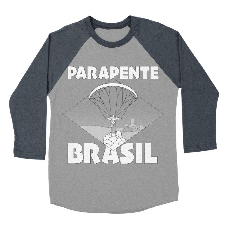 Parapente Brasil - Paraglide Brazil Men's Baseball Triblend Longsleeve T-Shirt by The Wandering Fools