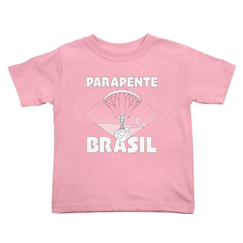 Parapente Brasil - Paraglide Brazil Kids Toddler T-Shirt by The Wandering Fools