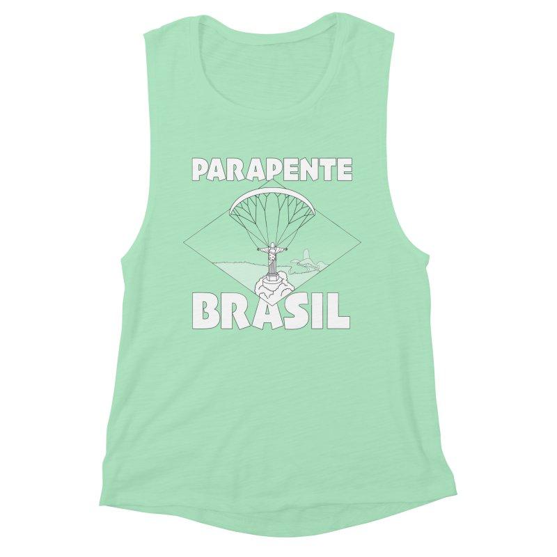 Parapente Brasil - Paraglide Brazil Women's Muscle Tank by The Wandering Fools