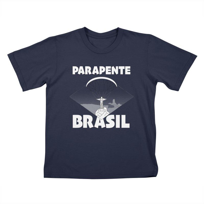 Parapente Brasil - Paraglide Brazil Kids T-Shirt by The Wandering Fools Artist Shop