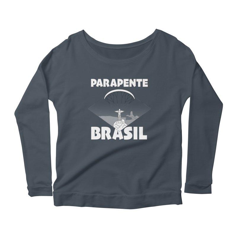 Parapente Brasil - Paraglide Brazil Women's Scoop Neck Longsleeve T-Shirt by The Wandering Fools
