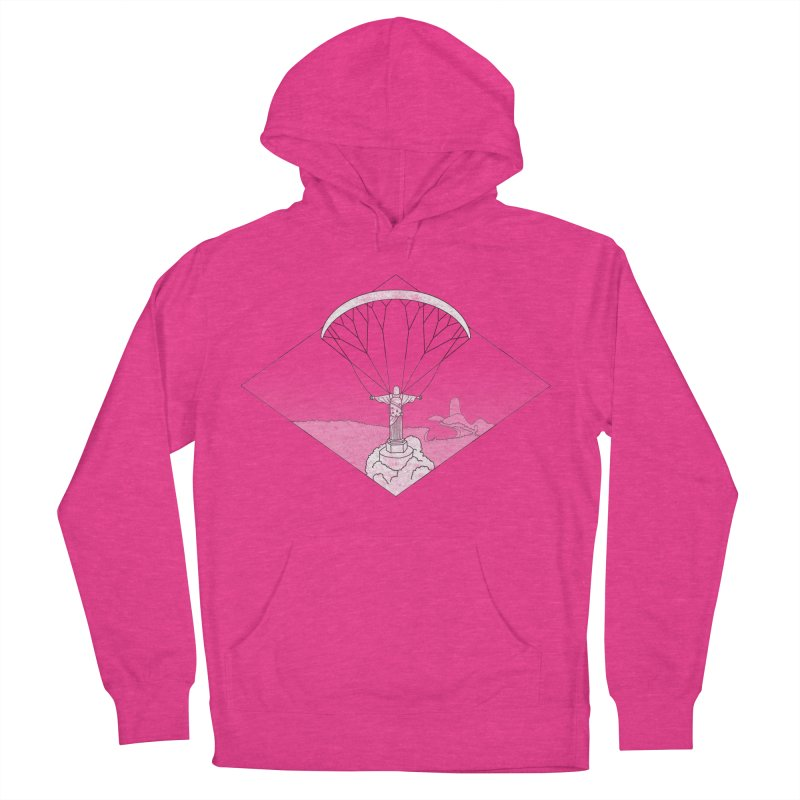 Parapente Brasil - Paraglide Brazil - Grunge - Textless Women's French Terry Pullover Hoody by The Wandering Fools
