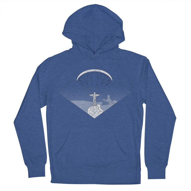 Parapente Brasil - Paraglide Brazil - Grunge - Textless Men's French Terry Pullover Hoody by The Wandering Fools