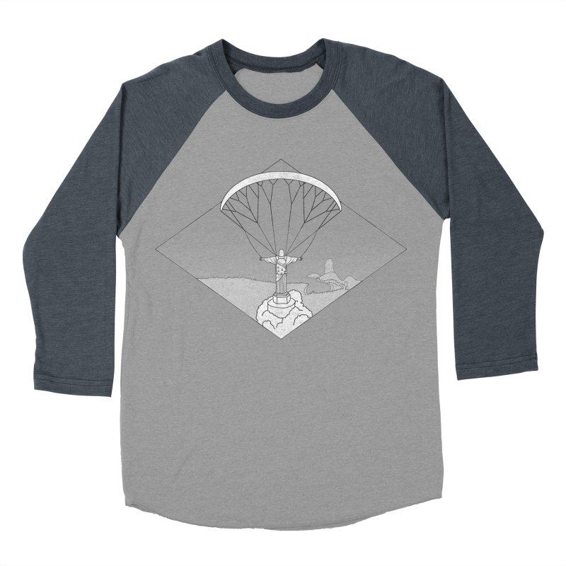 Parapente Brasil - Paraglide Brazil - Grunge - Textless Men's Baseball Triblend Longsleeve T-Shirt by The Wandering Fools
