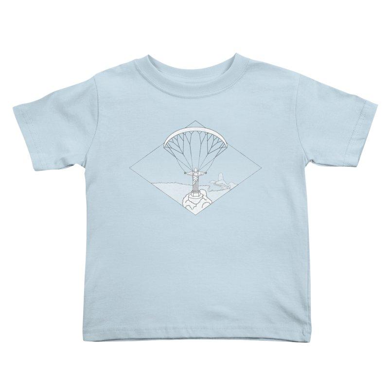 Parapente Brasil - Paraglide Brazil - Grunge - Textless Kids Toddler T-Shirt by The Wandering Fools