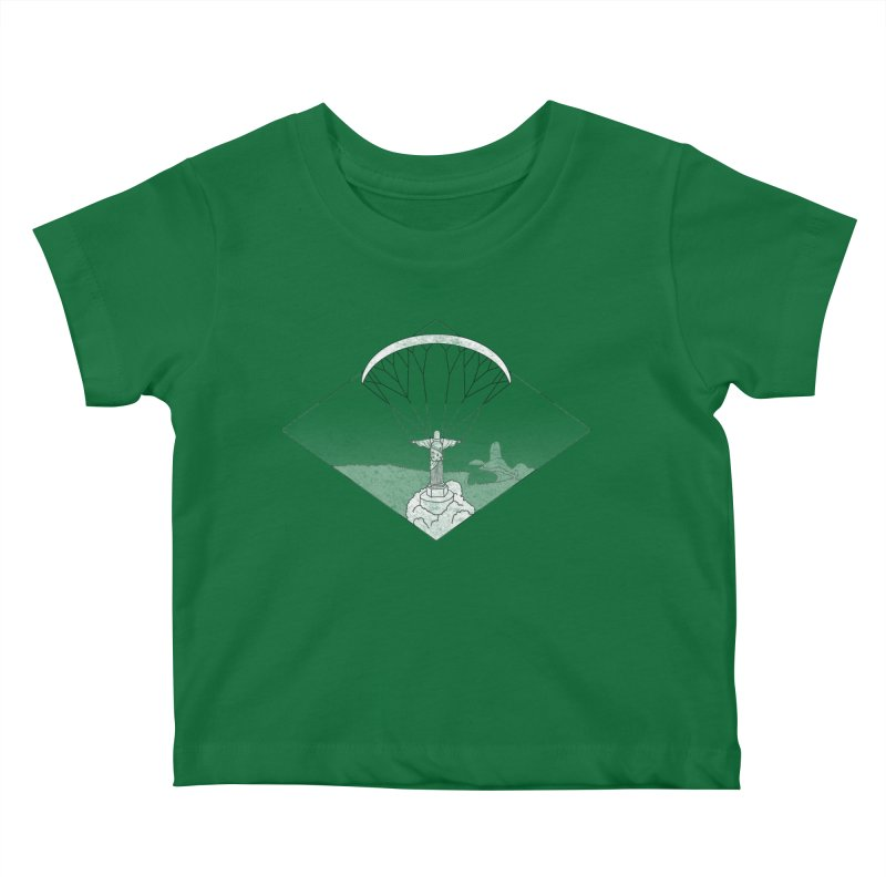 Parapente Brasil - Paraglide Brazil - Grunge - Textless Kids Baby T-Shirt by The Wandering Fools