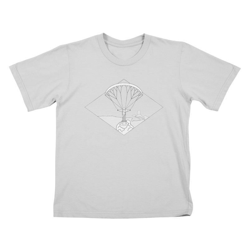 Parapente Brasil - Paraglide Brazil - Grunge - Textless Kids T-Shirt by The Wandering Fools