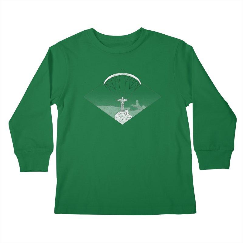 Parapente Brasil - Paraglide Brazil - Grunge - Textless Kids Longsleeve T-Shirt by The Wandering Fools