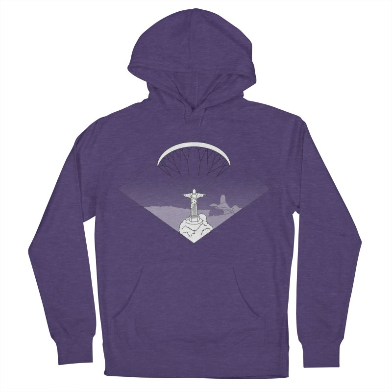 Parapente Brasil - Paraglide Brazil - Textless Men's French Terry Pullover Hoody by The Wandering Fools