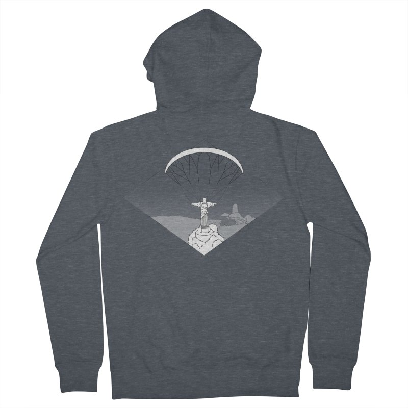 Parapente Brasil - Paraglide Brazil - Textless Men's French Terry Zip-Up Hoody by The Wandering Fools
