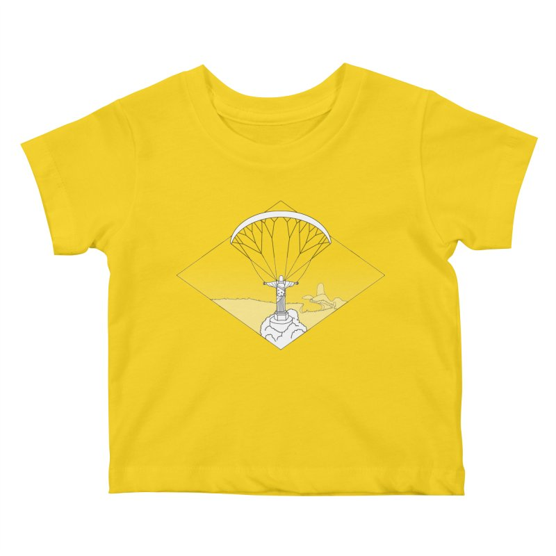 Parapente Brasil - Paraglide Brazil - Textless Kids Baby T-Shirt by The Wandering Fools