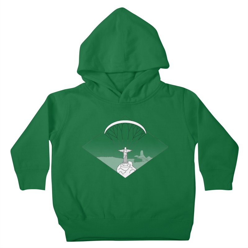 Parapente Brasil - Paraglide Brazil - Textless Kids Toddler Pullover Hoody by The Wandering Fools
