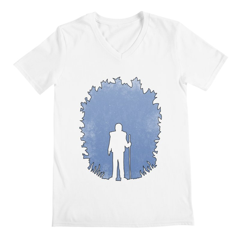 Practicing Social Distancing Men's V-Neck by The Wandering Fools Artist Shop