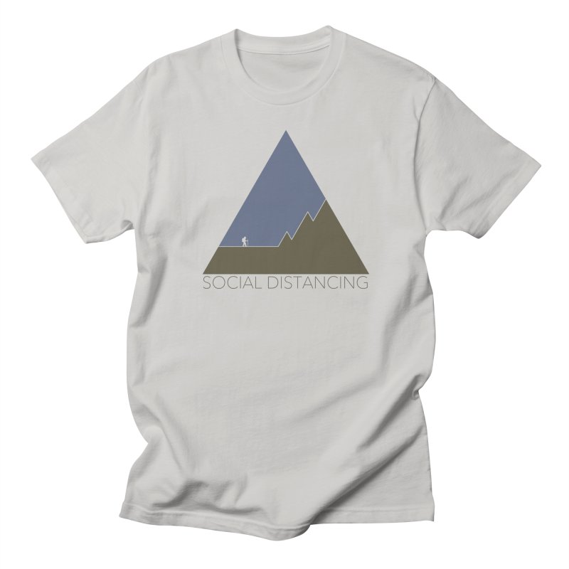 Social Distancing - In Nature in Men's Regular T-Shirt Stone by The Wandering Fools
