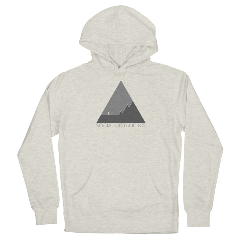 Social Distancing - In Nature - Grey Men's Pullover Hoody by The Wandering Fools Artist Shop
